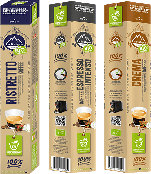 Bionedbrydelige kaffekapsler produktbillede